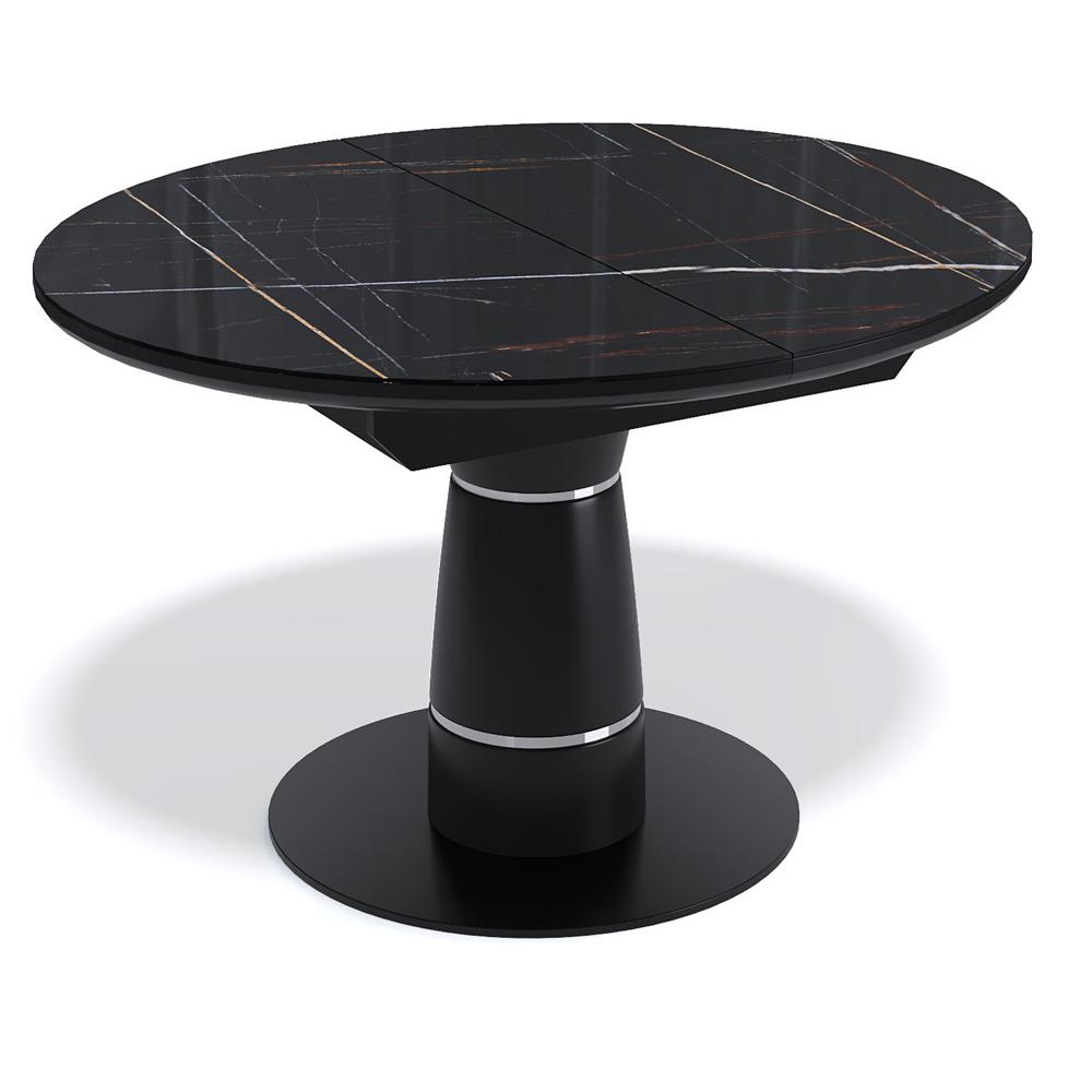 Черный овальный стол на одной ножке (арт. М4519)