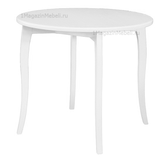 Стол деревянный круглый нераздвижной белый 93 см. (арт. М4398)