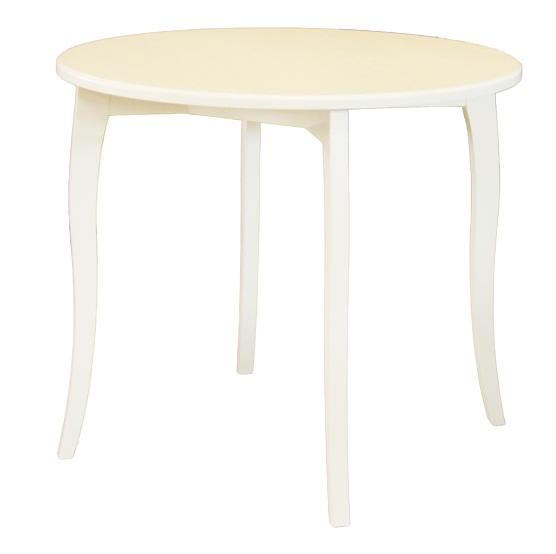 Стол для кухни нераздвижной 92 см. круглый слоновая кость из дерева (арт. М4397)