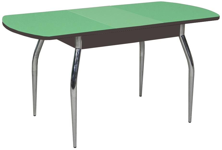 Стол кухонный 120 см. стеклянный, раздвижной, зеленое яблоко (арт. М4227)
