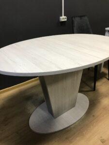 Стол эллипс Космо Bianco сосна светлая м4515