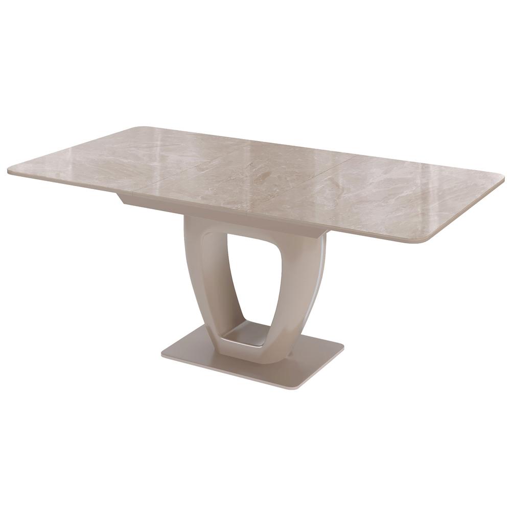 Обеденный стол капучино, стекло под камень (арт. М4499)
