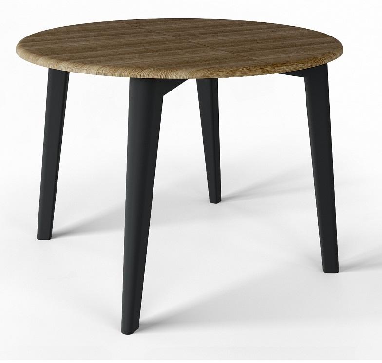 Стол круглый без стекла, раздвижной 100-140 см. (арт. М4440)