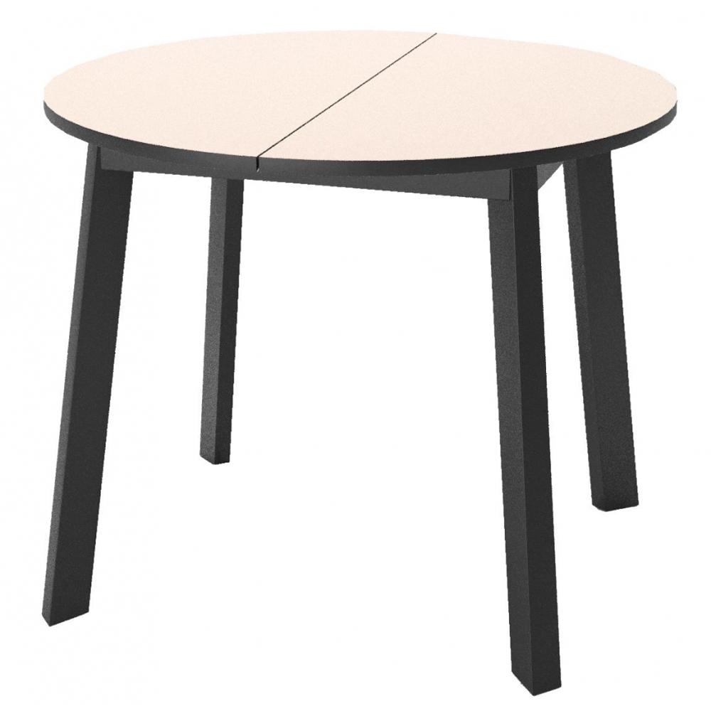 Круглый стол 90 см., стеклянный, раздвижной (арт. М4536)