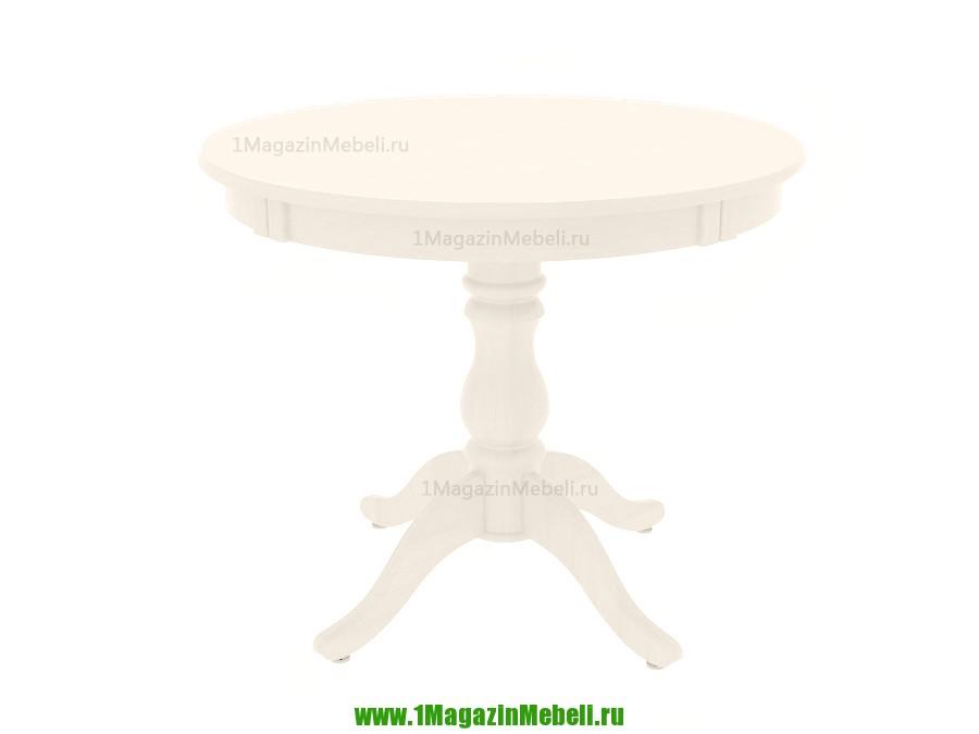 Стол кухонный из дерева Альт 9-11 бежевый, круглый тон 23 (арт. М4169)