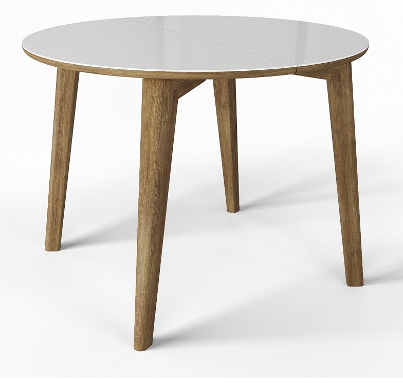 Круглый стол на кухню стеклянный (арт. М4442)