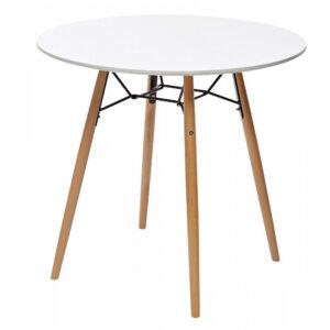 Стол кухонный CLIDE D80 -D90 белый ножки орех м4453