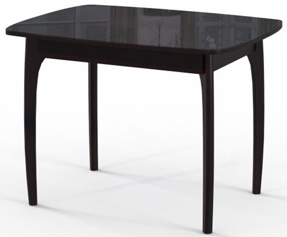 Практичный обеденный стол черный, раздвижной 105-142 см. (арт. М4277)