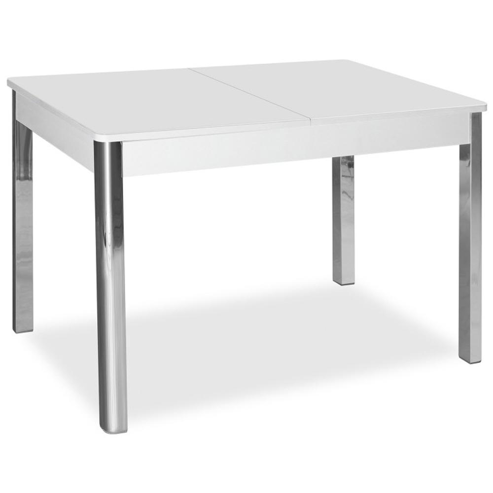 Стол кухонный белое стекло раздвижной 100(135)х70 см. (арт. М4555)
