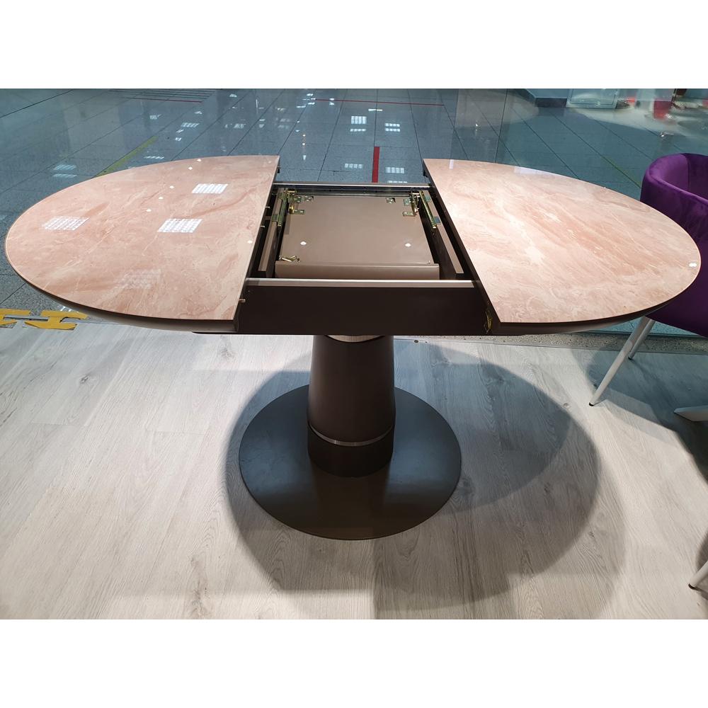 Стол KENNER BR1100 капучино/стекло камень капучино глянец (арт. М4521)