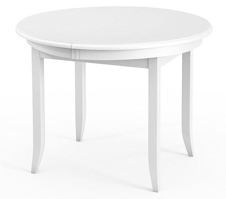 Белый, круглый кухонный стол из дерева на 4 ножках 100 см. (арт. М4246)