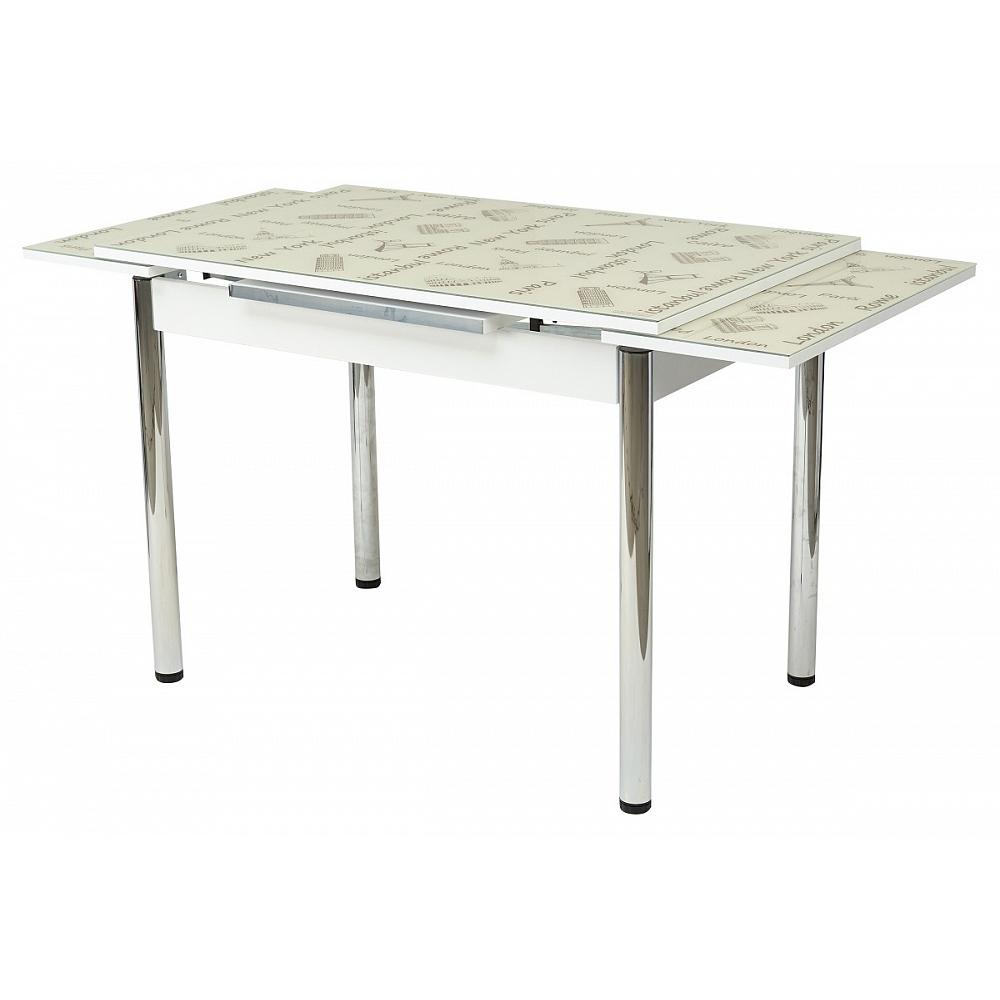 Стол кухонный, раскладной, стеклянный 110х70 см. (арт. М4466)