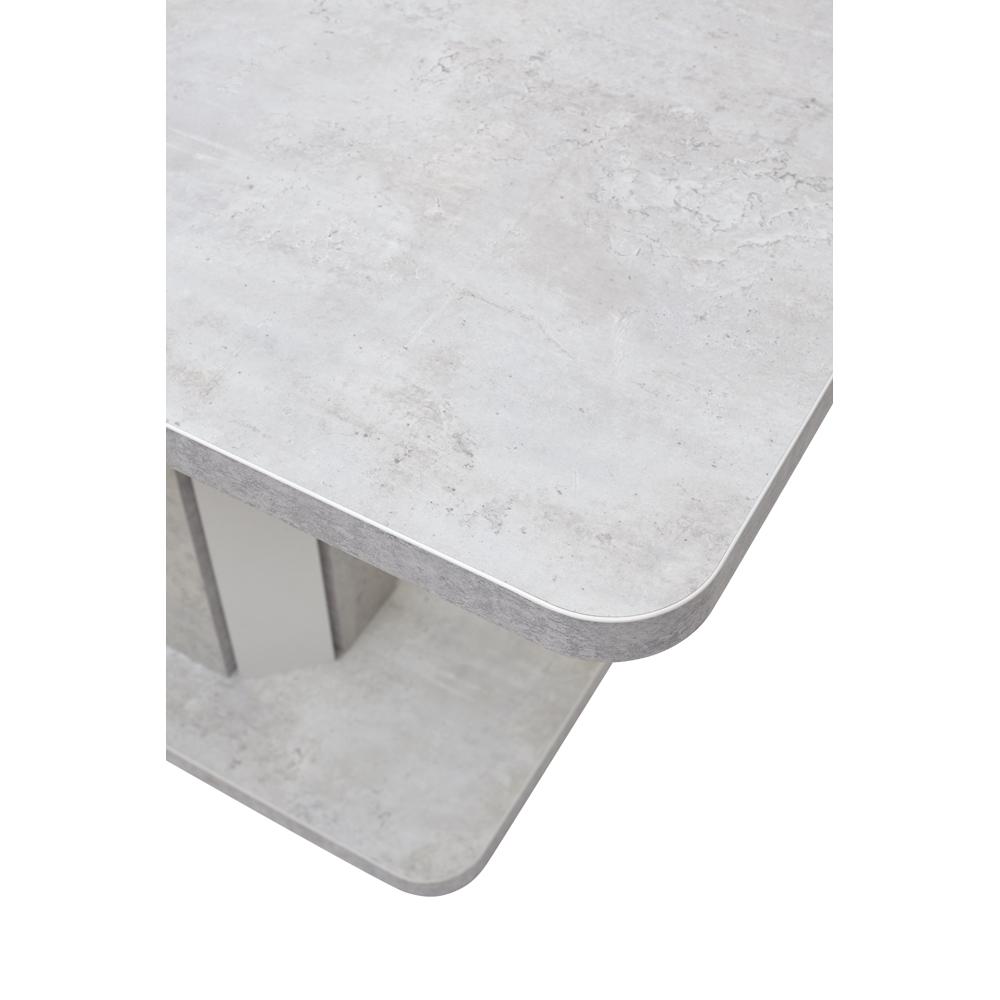 Ламинированный кухонный стол, белый/бетон (арт. М4482)