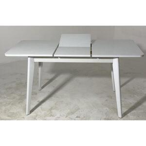 Стол кухонный стеклянный белый М4480