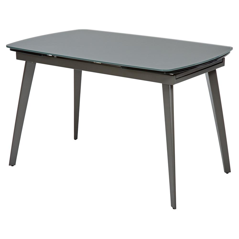 Стол обеденный, серое стекло, раздвижной, матовый (арт. М4488)