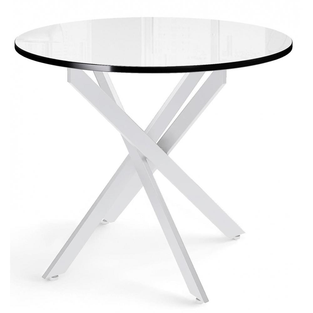 Стол нераздвижной, круглый 90 см., стеклянный (арт. М4537)