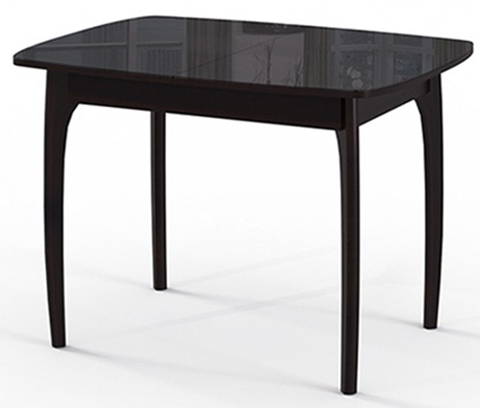 Небольшой стол №40 для кухни 90*65 раздвижной 127 см., черное стекло (арт. М4331)
