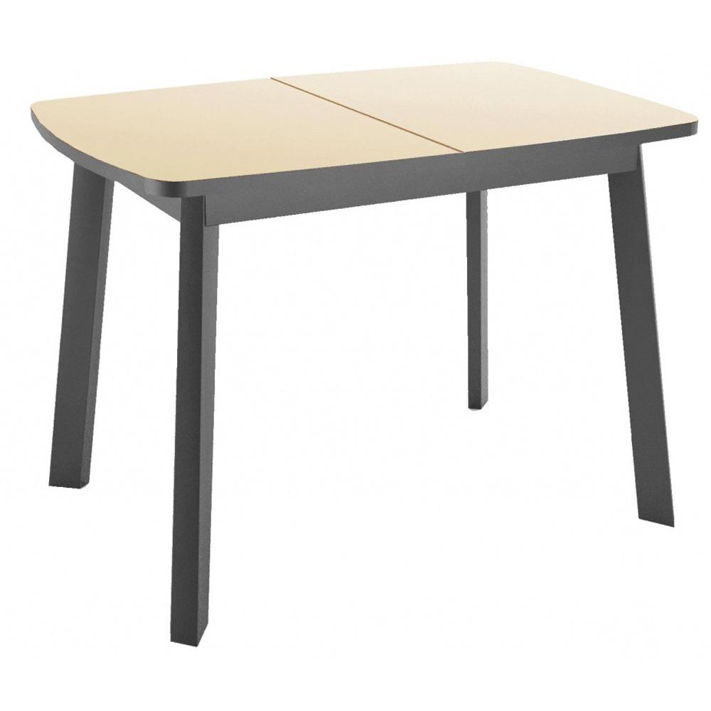 Небольшой стеклянный стол 105х75 см. крем (арт. М4549)