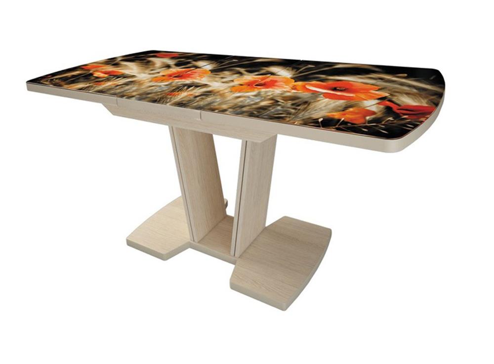 Прямоугольный стол с безопасными закругленными углами, стеклянный (арт. М4491)