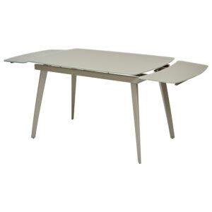 Стол обеденный бежевый со стеклом М4487