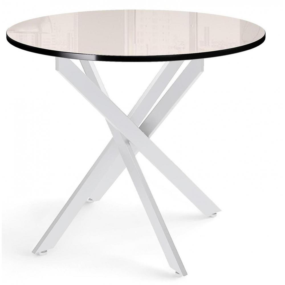 Стол обеденный, нераздвижной, стекло крем (арт. М4538)