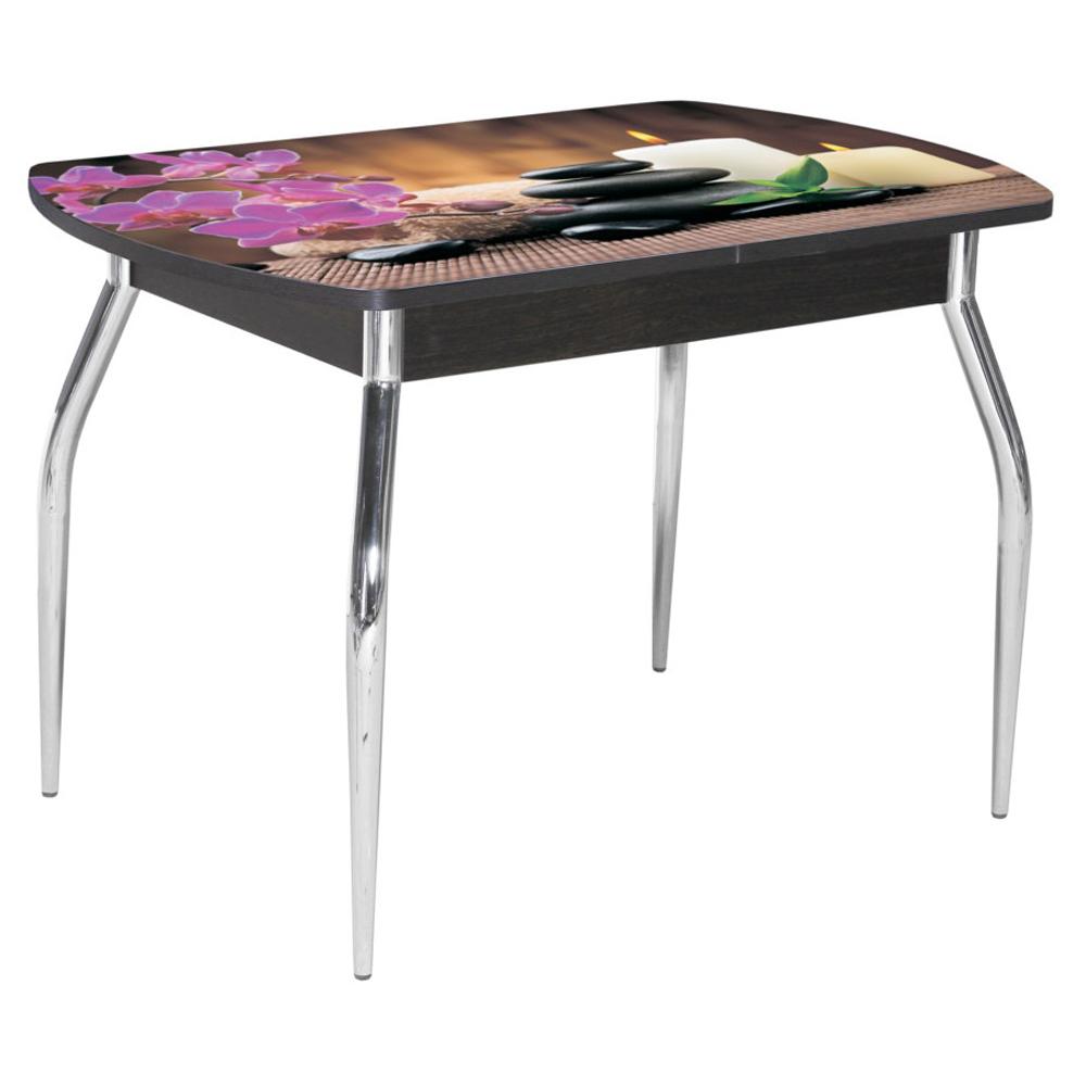 Стол обеденный раздвижной фотопечать венге 120(155)х80 см. (арт. М4553)