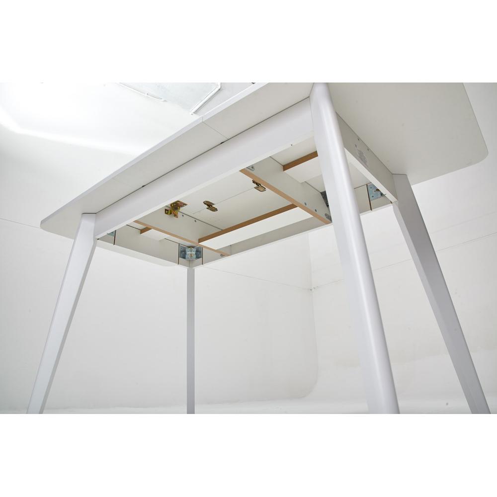 Стол SWIFT 110х70 см. стеклянный кухонный раздвижной белый (арт. М4480)