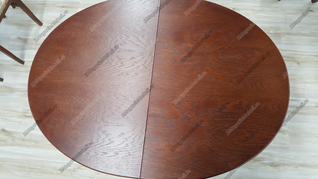 Стол овальный 106(136)х78 см. для кухни, из дерева, коньяк (арт. М4184)