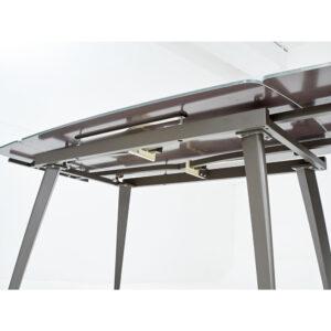 Стол с матовым стеклом серый М4488