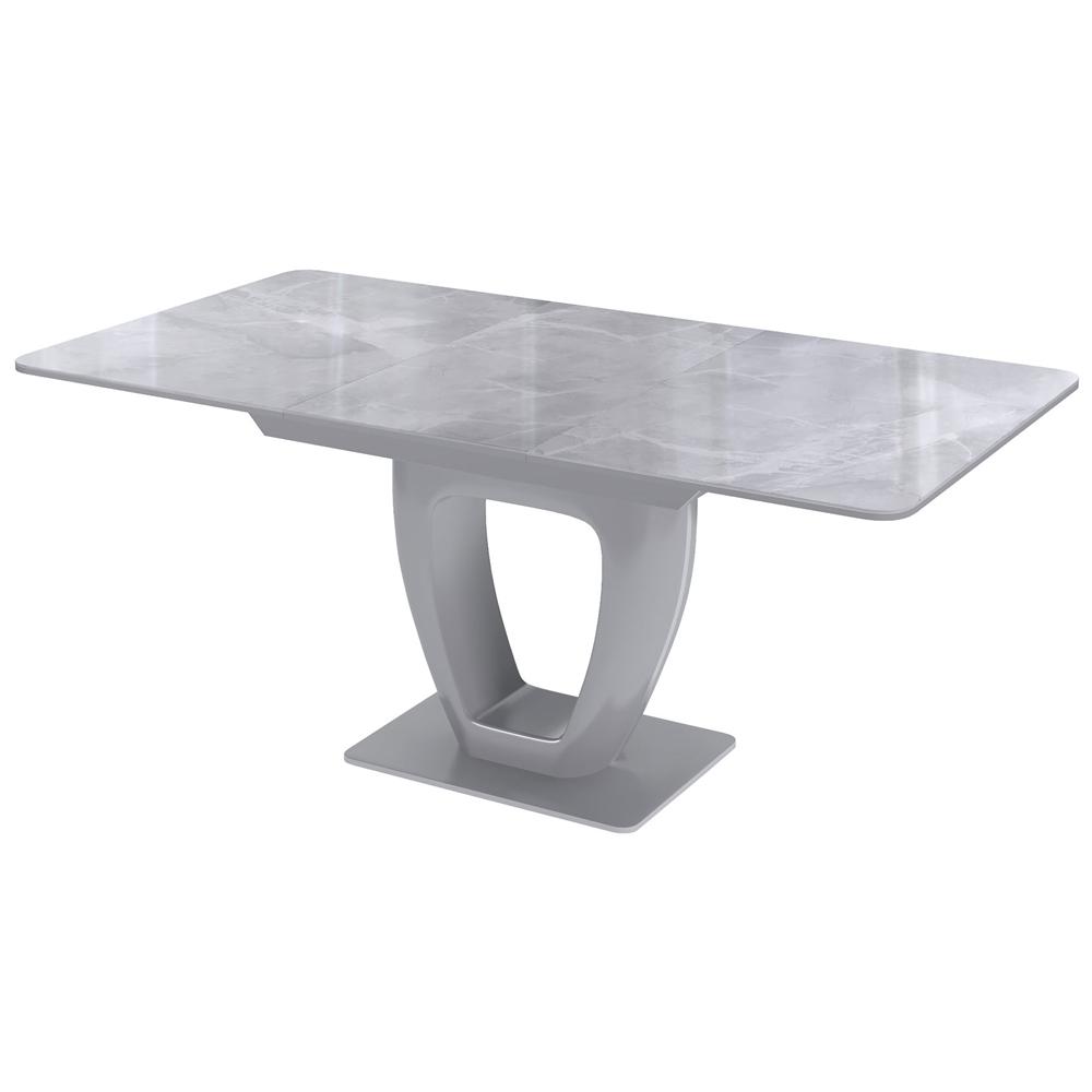 Современный обеденный стол, стеклянный, серый мрамор (арт. М4500)