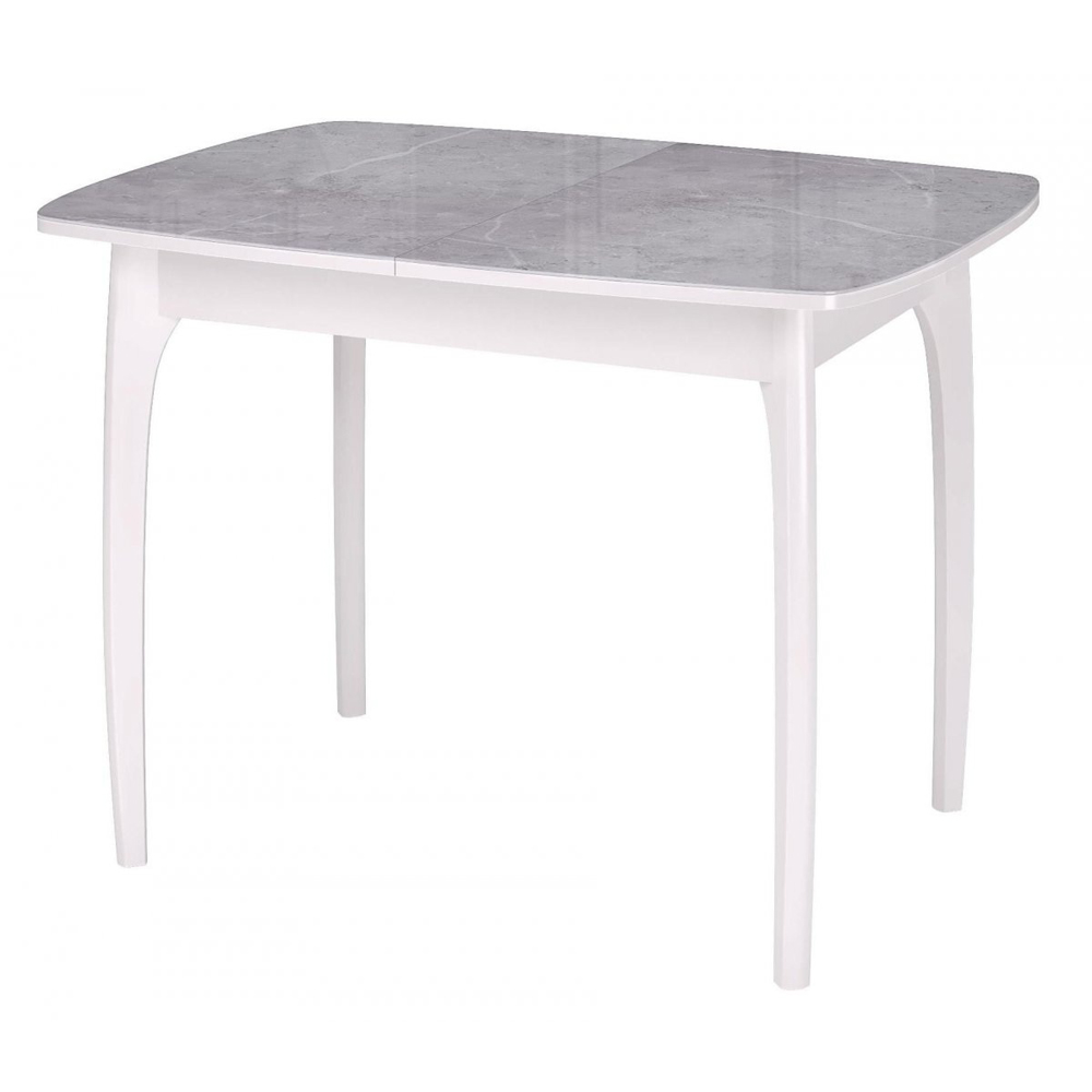 Кухонный стол стеклянный, раздвижной, серый мрамор 105х75 см. (арт. М4541)