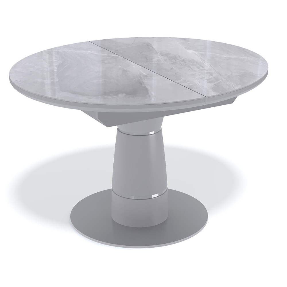 Стеклянный обеденный стол, камень серый (арт. М4520)