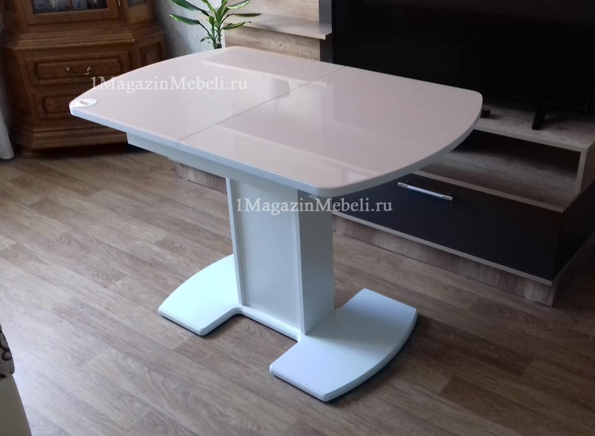 Стол стеклянный на одной ноге (арт. М4371)