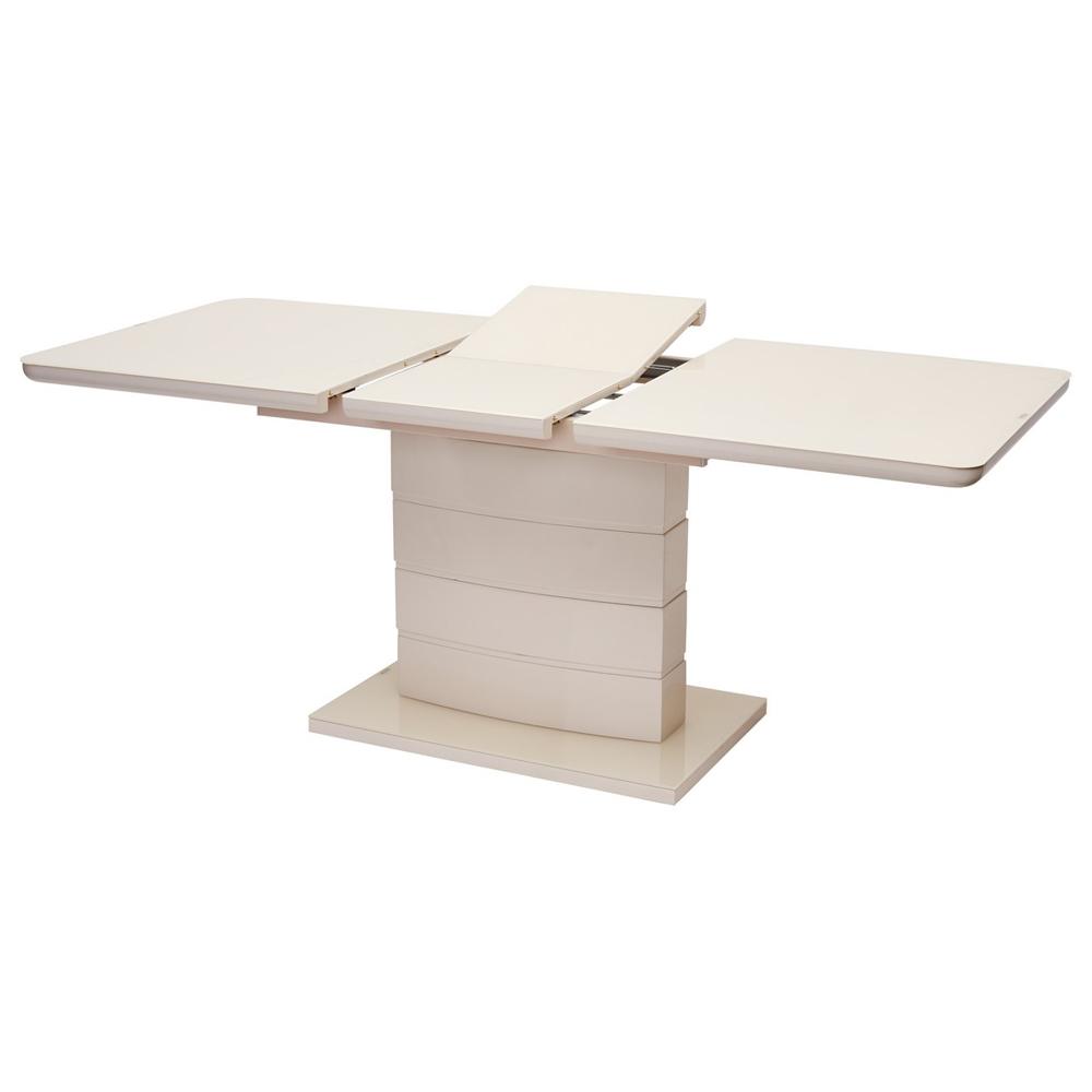 Кухонный стеклянный стол, раздвижной, цвет бежевый (арт. М4531)