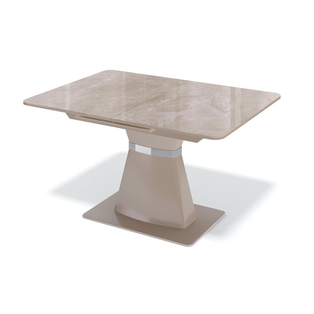 Стол стеклянный капучино на одной массивной ножке (арт. М4503)