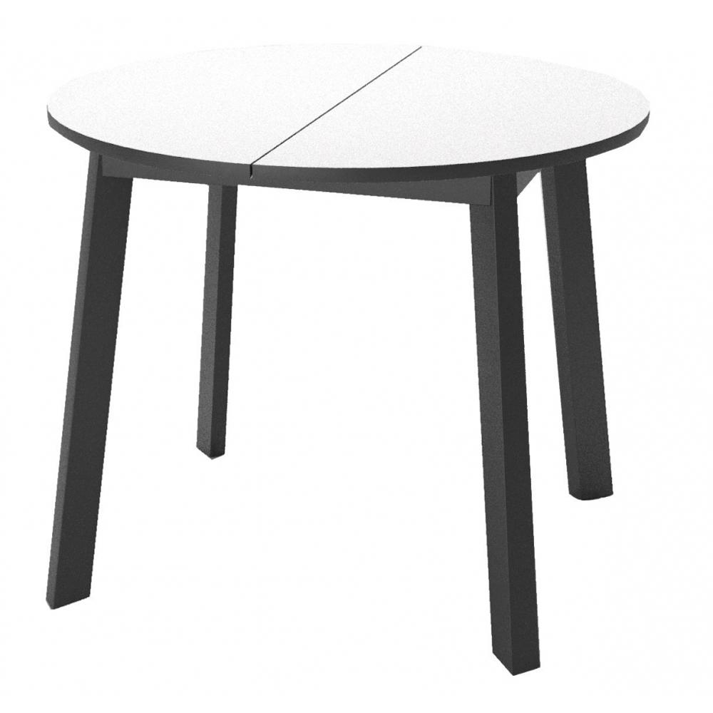 Стол круглый, раздвижной, стеклянный 90 см. (арт. М4535)
