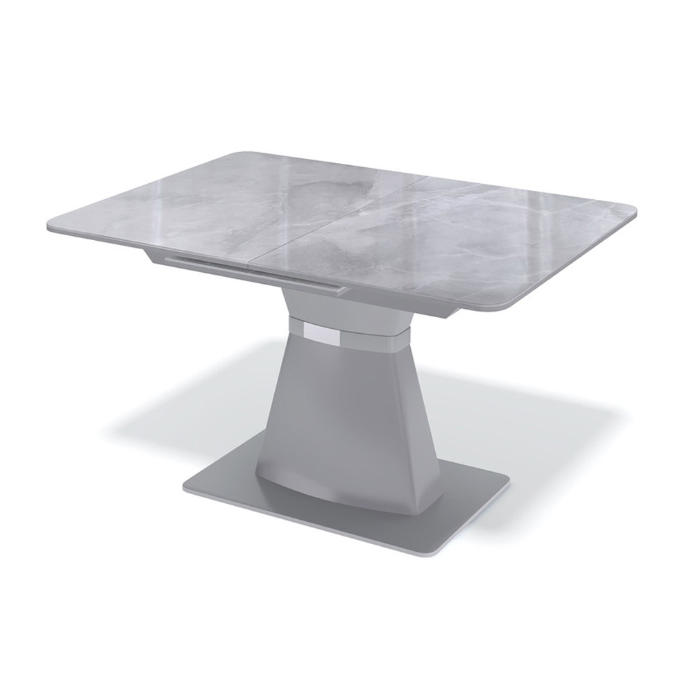 Кухонный стол, стеклянный, серый (арт. М4504)
