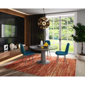 Стол стеклянный серый М4520