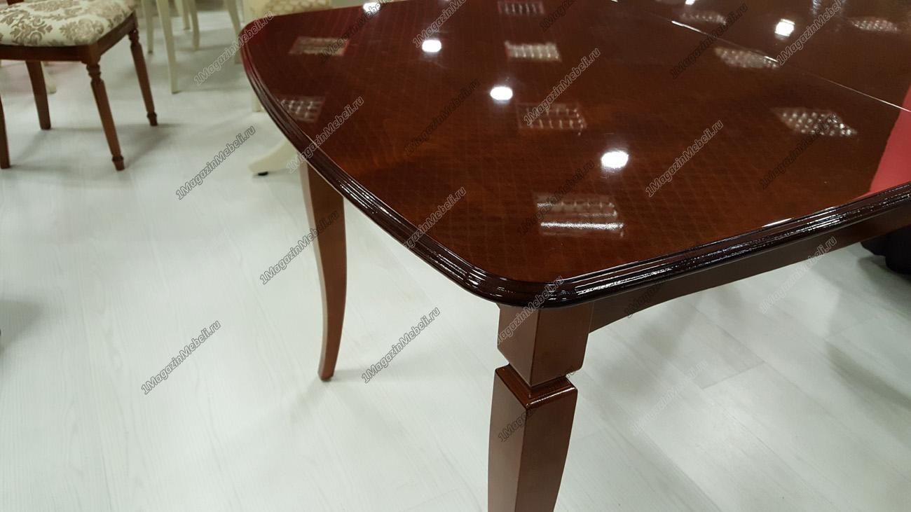 Стол из дерева глянцевый, раздвижной Альт 1-12, (13 гл) темная вишня (арт. М4248)