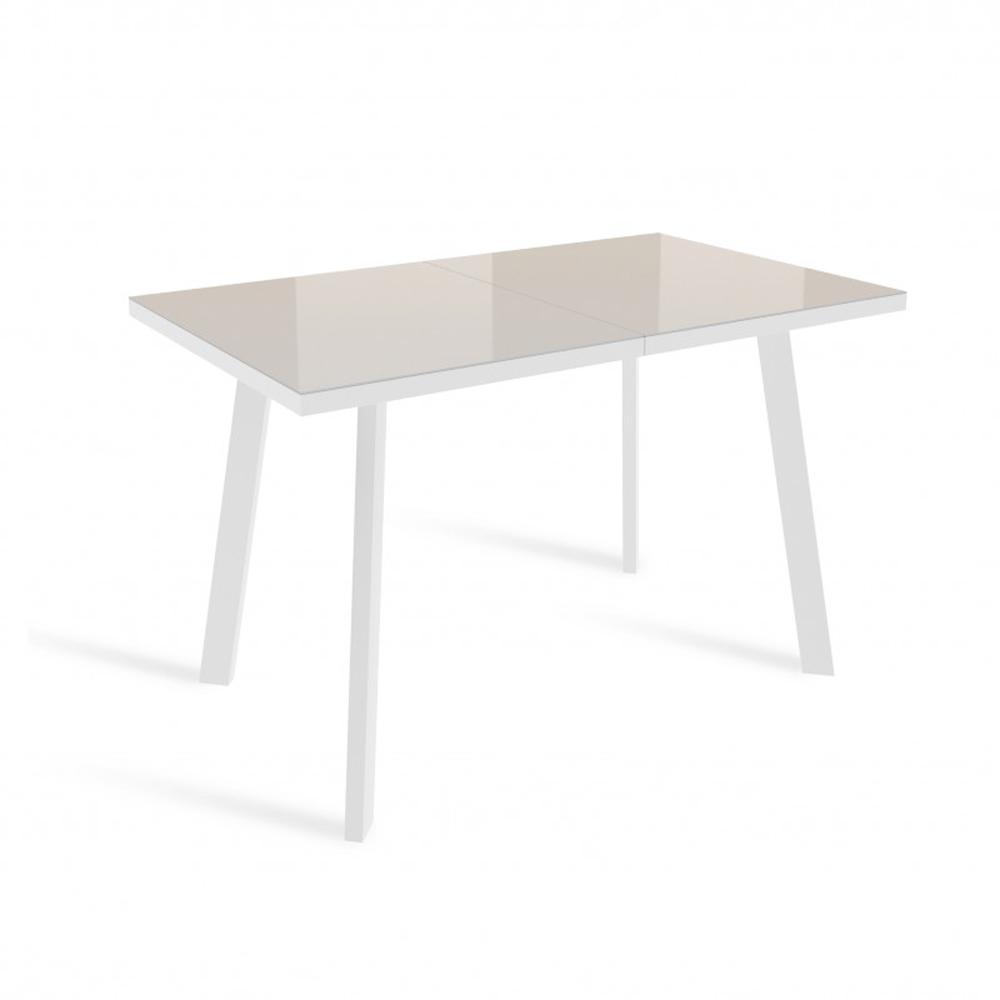 Современный стеклянный стол ФИН, цвета латте (арт. М4527)