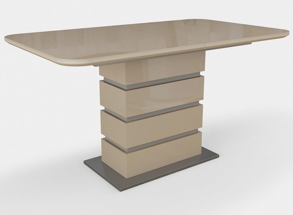 Стол в современном стиле капучино глянец 140х80 см. (арт. М4383)