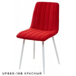 Стул DUBLIN красный белые ножки M3482