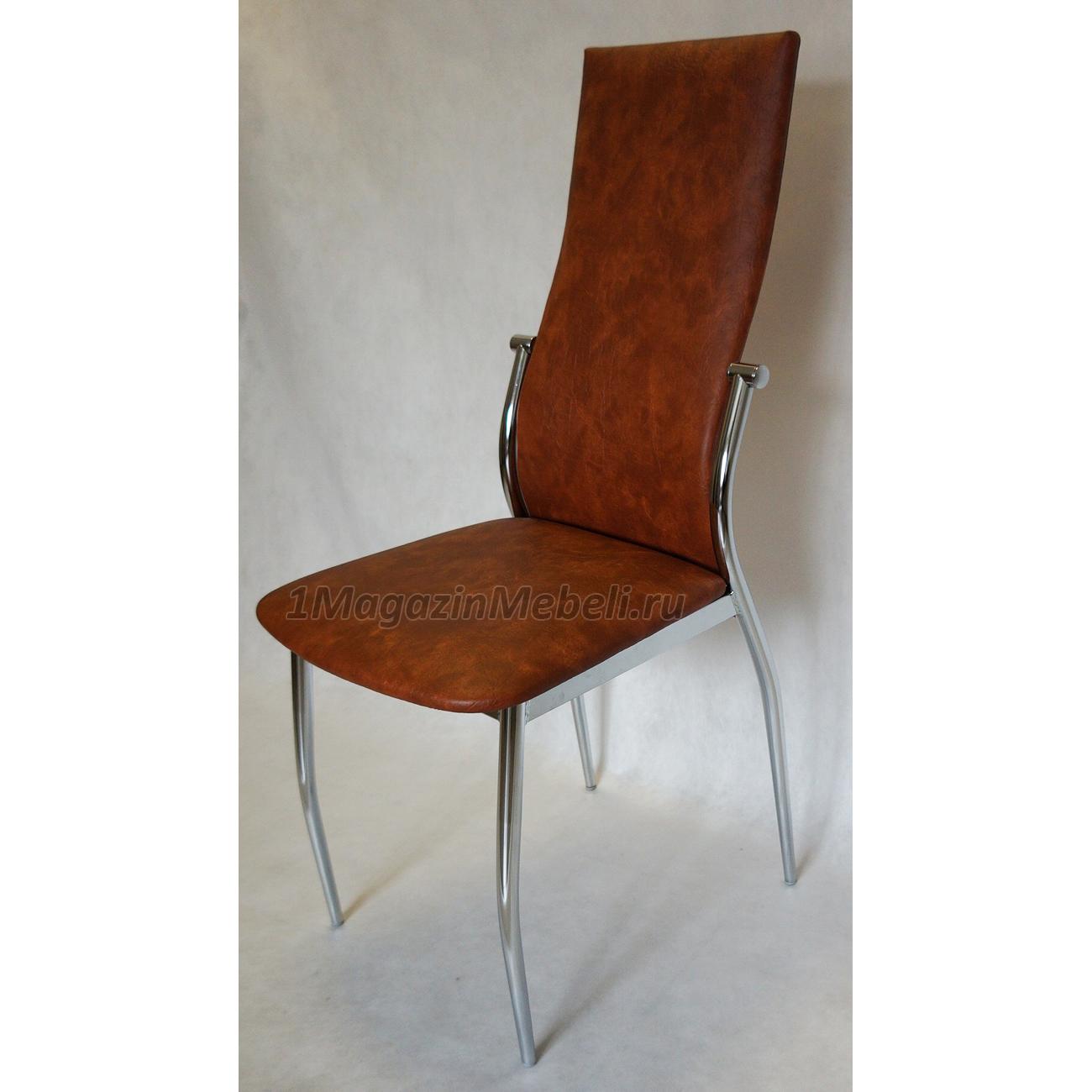 Стул металлический, коричневый, табак, hs-022, комфорт, 218 (арт. М3233)