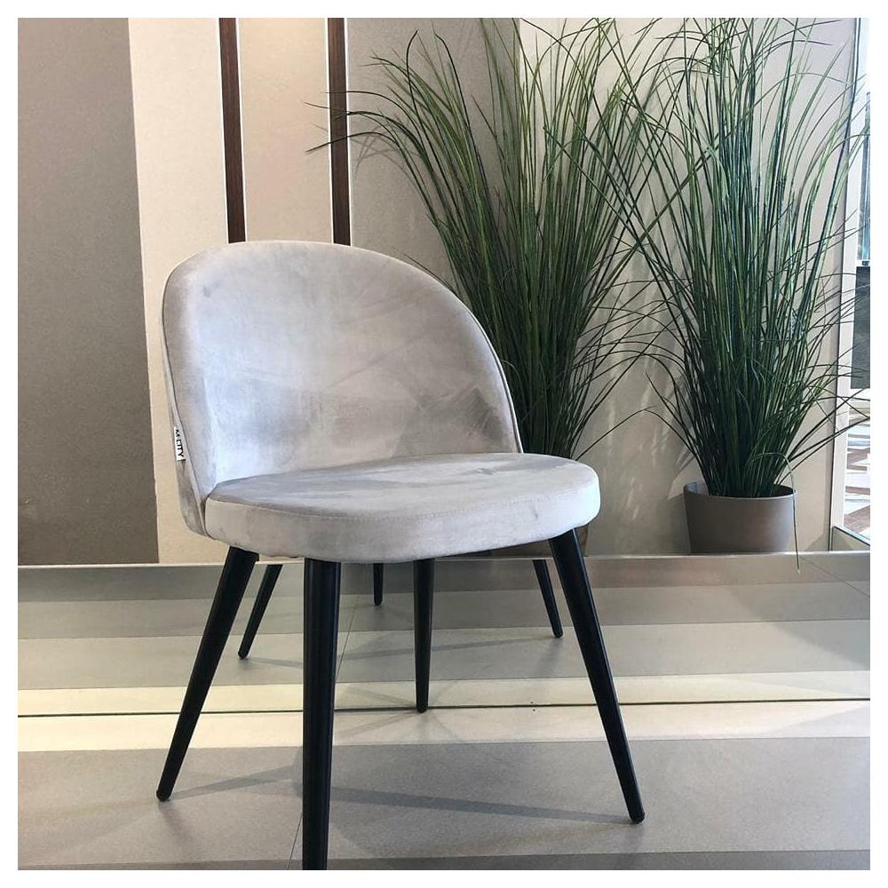 Мягкие стулья для гостиной, велюр серый (арт. М3451)