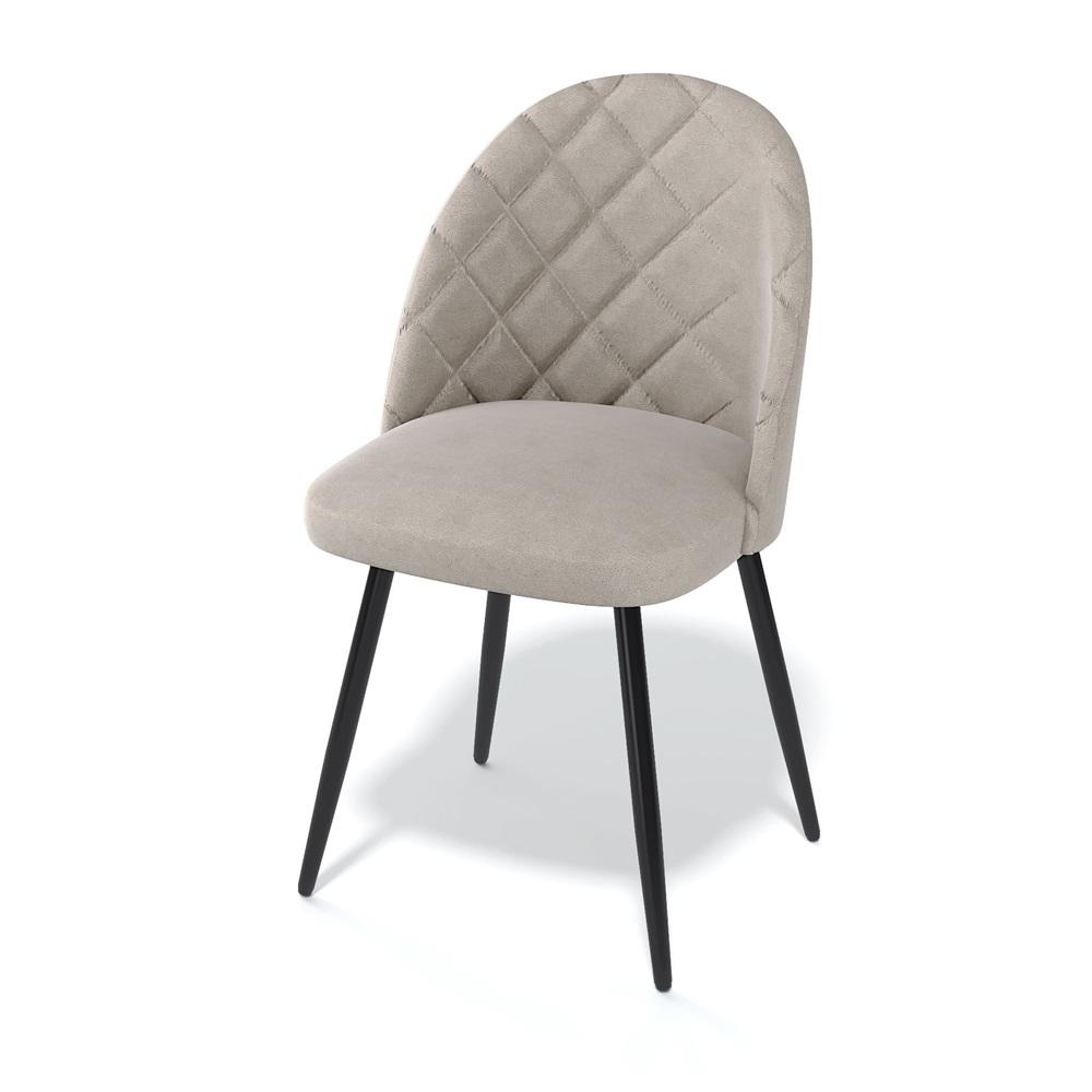 Удобный, мягкий стул с обивкой велюр бежевого цвета (арт. М3542)