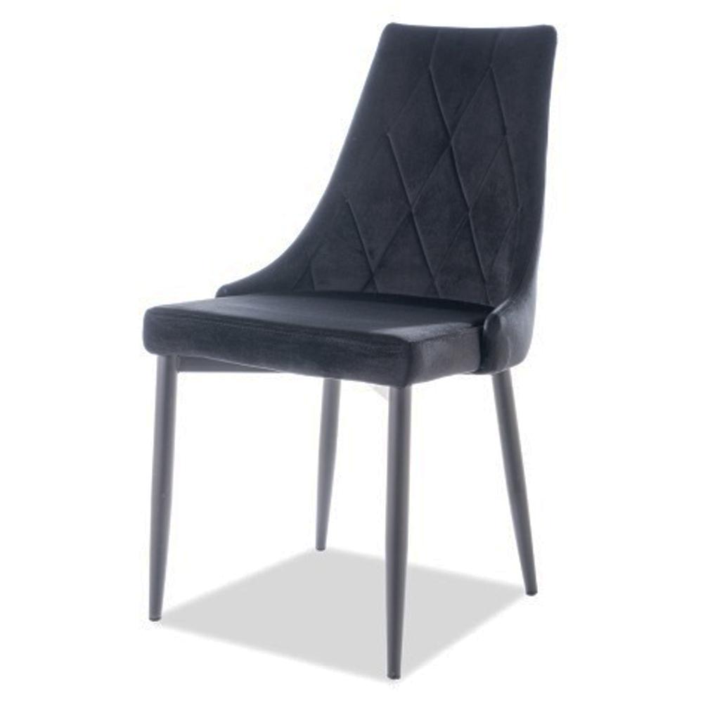 Красивый, мягкий стул для кухни в черном цвете, велюр (арт. М3508)