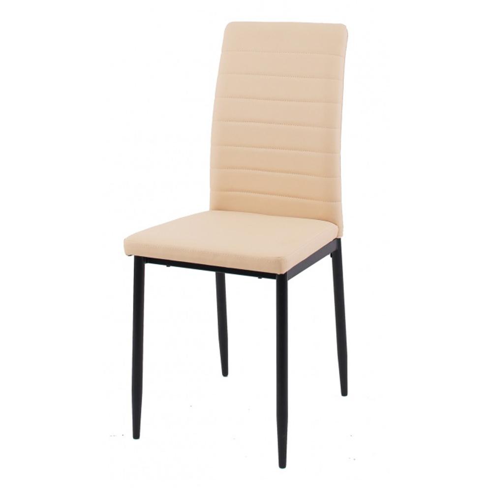 Недорогой удобный стул в бежевом цвете, кожзам (арт. М3583)
