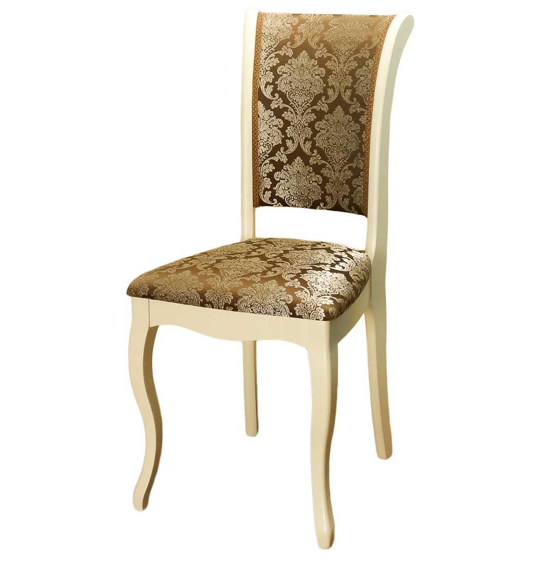 Деревянный стул для дачи кухонный, слоновая кость, С6 (арт. М3274)