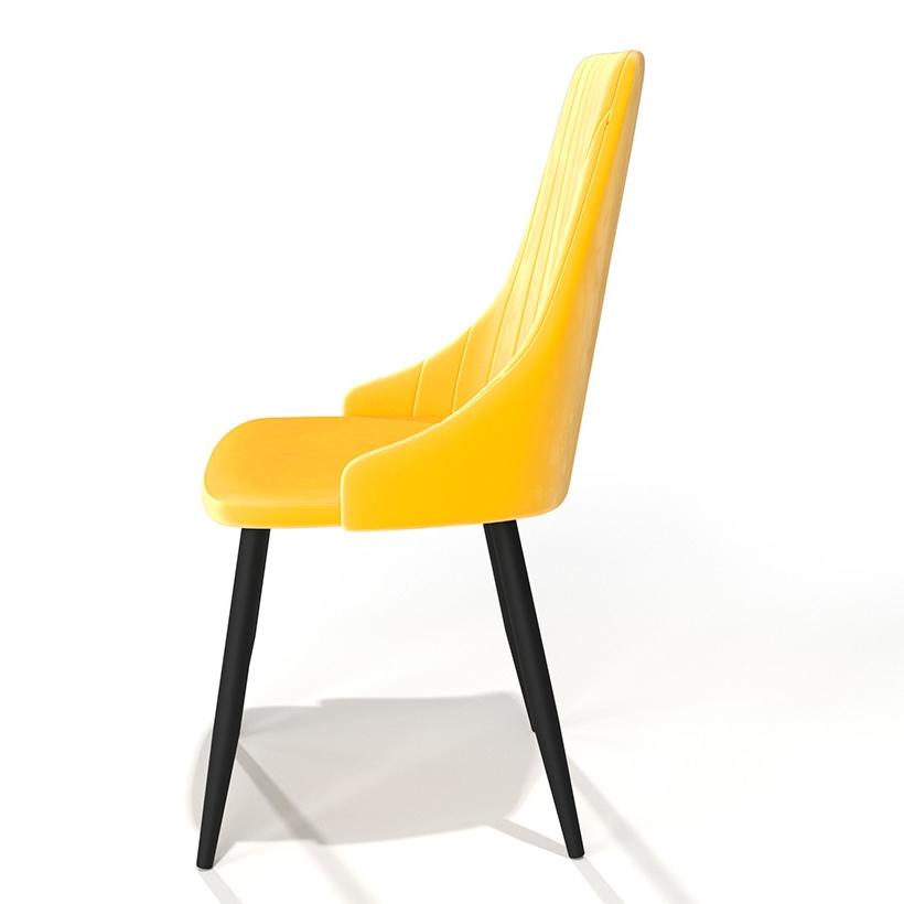 Стул для дома, мягкий с подлокотниками, цвет желтый (арт. М3392)