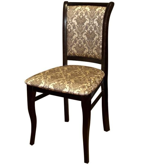 Надежный стул из дерева венге, ткань жаккард 32 (арт. М3269)